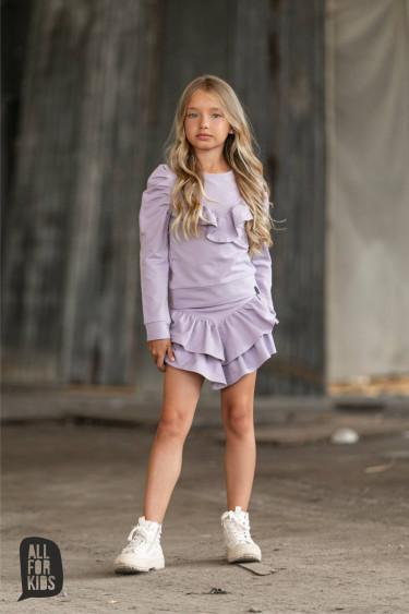 Spódnica dziewczęca liliowa...